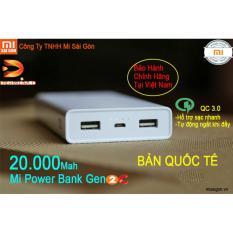 pin sạc dự phòng xiaomi 20000mAh gen 2C (digiworld phân phối)
