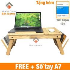 Bàn laptop gỗ đa năng TẶNG KÈM sổ tay A7 (100 trang) – bàn laptop xếp gọn thông minh