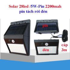 Đèn năng lượng mặt trời 3 chế độ 28led/ 5W pin 2200mah