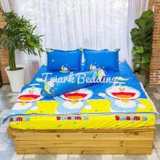 Bộ ga gối giường Cotton Poly Tmark (Doremon trăng sao)