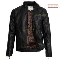 Áo khoác da nam lót lông thời trang cao cấp AD021