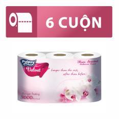 Chỗ bán Giấy lụa cuộn Pulppy Velvet 6 cuộn (Hương Hoa)