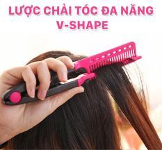 Lược chải tóc đa năng V-Shape – duỗi thằng – uốn cúp – phồng tóc 3in1