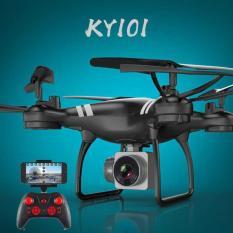 Flycam giá rẻ – Máy bay Flycam KY101 Cao cấp, kết nối Wifi với điện thoại + Tặng tay cầm điều khiển từ xa (Đen)