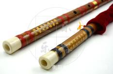 Sáo Trúc Tone D -Túi Lụa (Tặng 1 tập Màng Sáo – Khớp đồng, đầu khảm sừng, khắc thơ)