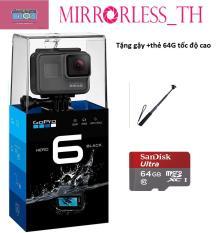 GoPro Hero 6 Black ( Streamcast Asia Việt Nam ) tặng gậy + thẻ 64G tốc độ cao