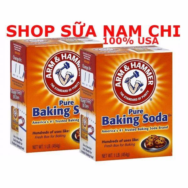 Bộ 2 Bột Nở Baking Soda đa công dụng 454g ( 100% USA)