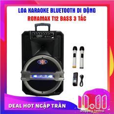Loa kéo Karaoke di động Bluetooth Ronamax T12 ( 300W )