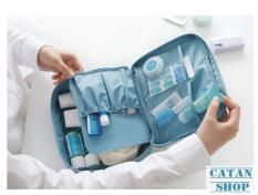 Túi Đựng Mỹ Phẩm Du Lịch Hàn Quốc, chống thấm xếp gọn, đồ trang điểm, make up, dầu gội, sữa tắm trong vali Bag in Bag DL04-TMP-N