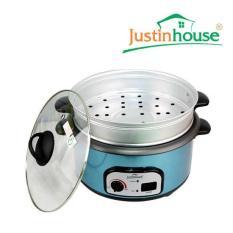 Nồi lẩu điện đa năng kết hợp vỉ hấp Justin House 1300W