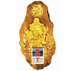 Lịch gỗ 3D Phật Giáo Phật Di Lặc 3DPG04