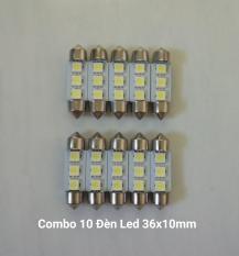 Combo 10 Đèn Led Trần ô tô 36x10mm