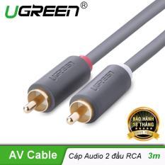 Cáp Audio 2 đầu RCA UGREEN AV104 dài 3m 10519 (Đen) – Hãng phân phối chính thức.
