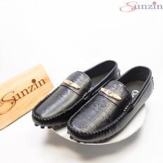 Sunzin.HCM Free từ 99k-Giày DA THỜI TRANG NAM VL175 – Kiểu Giày lười Giày mọi – chất liệu da cán mờ 2 màu Trắng & đen / giày nam / giày da na-SZ10357