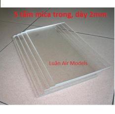 Combo 5 tấm nhựa mica acrylic cứng trong suốt dày 2mm (dài 19.5cm x rộng 14.5cm) chế đồ chơi sáng tạo, thủ công mỹ nghệ (VA130x5 TP) – Luân Air Models