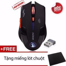 Chuột Azzor Pin Sạc Không Dây Version 2 + Tặng miếng lót chuột