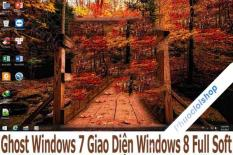 Đĩa Ghost Windows 7 32 bit full soft giao diện MacOS