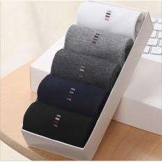 Phụ kiện giày nam vớ cotton họa tiết cao cổ khử mùi (5 đôi) Vớ Store – A160