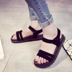 Giày sandal 2 dây nhung bánh mì 4p MYS shop nữ thời trang