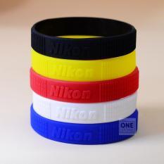 Bộ 2 vòng cao su bảo vệ và trang trí ống kính Nikon size L