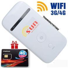 Bộ phát Wifi 3G 4G SUN chất lượng nhật bản – tặng sim Data khủng – Phát Wifi di động giá rẻ