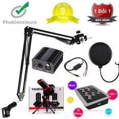 Trọn bộ combo karaoke Livestream thu âm hay như ca sĩ chuyên nghiệp CỰC KÌ HẤP DẪN với Micro Takstar PC-K320 kết hợp với Sound Card HF-5000 Pro tùy chỉnh Auto Tone cực dễ dàng