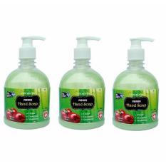 Bộ 3 Chai Nước rửa tay dưỡng ẩm diệt khuẩn cao cấp Mr Fresh Korea 500ml Hương Táo Mỹ (Xanh Lá) GHD715
