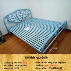 giường sắt, Mới 100%. rộng 1m6 dài 2m