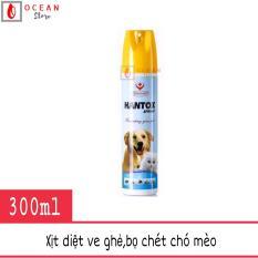 Thuốc xịt trị ve ghẻ, trị bọ chét chó mèo – Hantox Spray 300ml