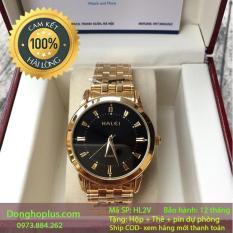 [SIÊU KHUYẾN MẠI] TẶNG 2 PIN DỰ TRỮ + VÒNG TỲ HƯU 100K khi mua Đồng hồ nam halei 2V vàng chống nước, chống xước
