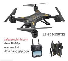 Máy bay flycam ky601s FULL HD gấp gọn bay 20 phút