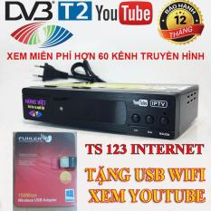 Đầu KTS mặt đất DVB – T2 HÙNG VIỆT TS 123 XEM YOUTUBE INTERNET – TẶNG anten WIFI