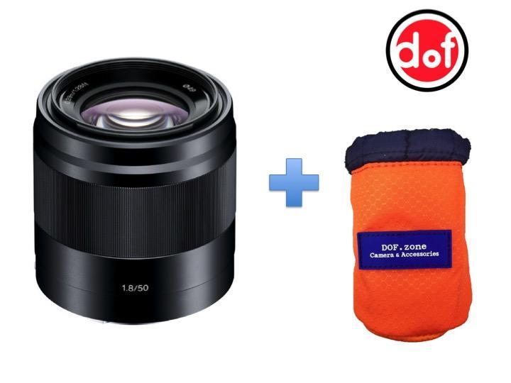 Sony SEL 50mm f/1.8 Đen tặng kèm túi đựng lens DOFzone