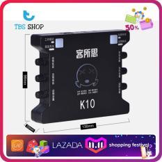 Sound Card K10 Hát Thu Âm, Karaoke Thế Hệ Mới