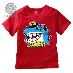 Áo thun TAMOD in hình Cá mập màu đỏ dễ thương