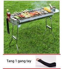 Bếp nướng than hoa gấp gọn ngoài trời cao cấp BBQ L5-129H +Tặng 1 găng tay chống nắng