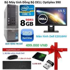 Máy tính đồng bộ Dell Optiplex 990 Intel Core i5 2400, RAM 8GB, HDD 500GB, màn hình 20″ ( Tặng bộ Bàn phím + chuột + bàn di + USB Wifi) – Hàng nhập khẩu
