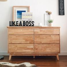 Tủ ngăn kéo 6 ngăn ngang NB-Natural gỗ tự nhiên