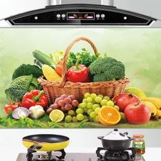 Bộ 2 Giấy dán bếp cách nhiệt cỡ lớn 60*90cm (Mẫu hoa quả)