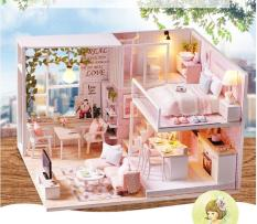 Girl doll house Furniture toy diy Miniature room diy wooden dollhouse Tuanquil life