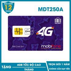 SIM 4G MDT250A Mobifone Trọn Gói 1 Năm (4GB/Tháng) (Như F500)