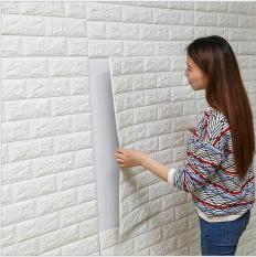 10 tấm Xốp Dán Tường giả gạch 3D BỀN – ĐẸP / Xốp dán khổ to 70×77