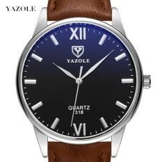 (Cập nhật 2019)Đồng hồ nam thời trang dây da cao cấp Yazole Q01