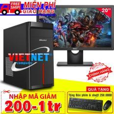 Bộ máy chơi game intel core i5 2400 RAM 4GB 250GB + LCD Del 20 inch new 2016-2017 mới 100%