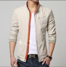 Áo khoác Kaki nam với gam màu xám phối dây kéo