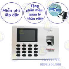 Máy chấm công vân tay và thẻ cảm ứng RONALD JACK DG-600BID ( pin lưu điện 8h)