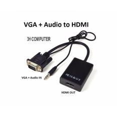 Cáp chuyển đổi VGA sang HDMI Có Audio – VGA TO HDMI
