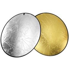 Tấm hắt sáng hình tròn 2 mặt 2 trong 1 vàng bạc đường kính 80cm