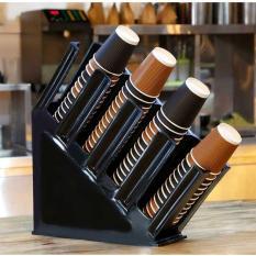 KỆ ĐỰNG CỐC TRÀ SỮA Takeway – Nhựa Mica ABS cao cấp – Màu đen – nhiều ngăn chứa – tiện sử dụng trong nhà bếp