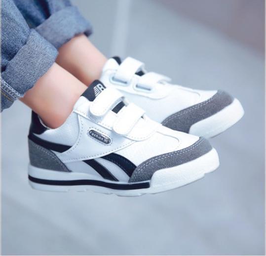Sneaker Cho Bé Thể Thao Thời Thượng ( Trắng Xám ) size 22/28